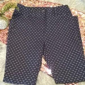 ANN TAYLOR LOFT Skinny print ankle pants